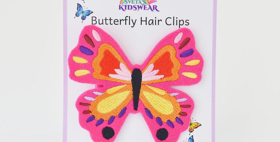 Vibrant Butterfly Hair Clip