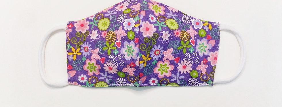 sveta's-kidswear-children-multi-use-protective-washable-purple-with-flowers-face-mask