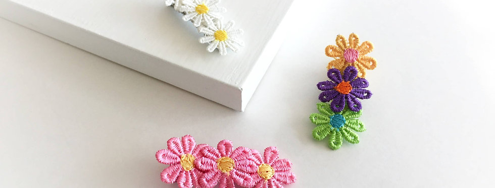 Hairclips 3 Pack-Multi Flowers.