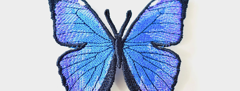 Blue Morph French Barrette Butterfly Hair Accessory