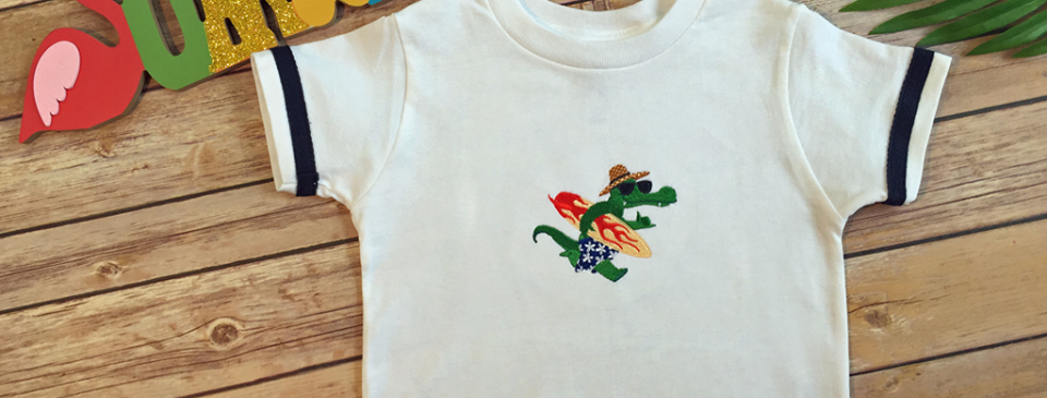 Alligator in Sunglasses Embroidered T-Shirt for Toddler