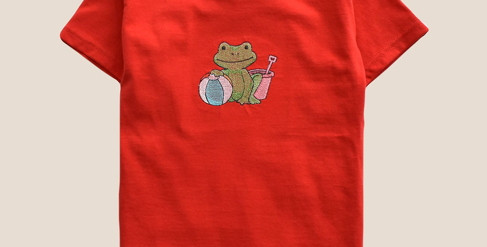 Beach Frog Embroidered T-shirt for Toddler