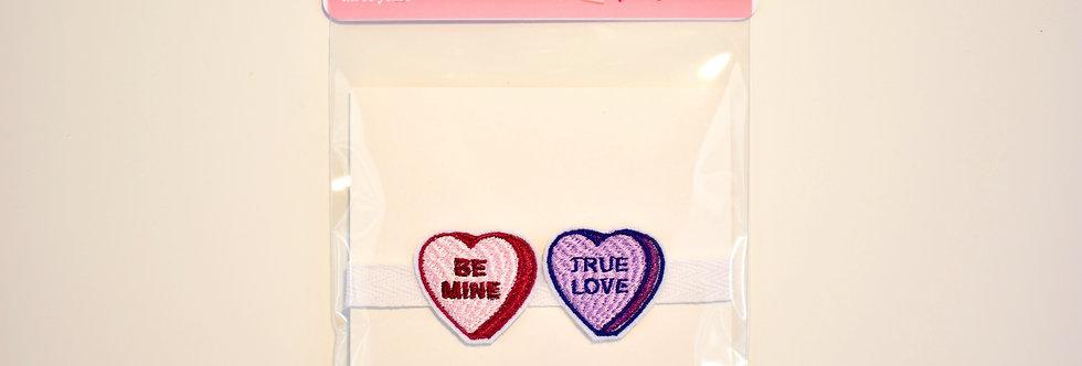 Candy Hearts Wrist Tie Bracelet
