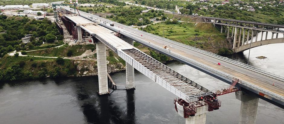 На балковому мосту в Запоріжжі розпочався третій етап насування прогонової будови