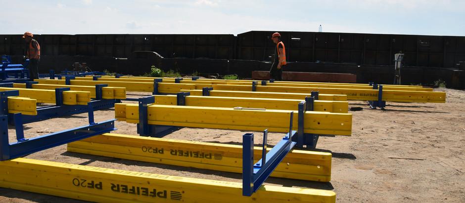До Запоріжжя прибула нова опалубка для завершення бетонування пілонів