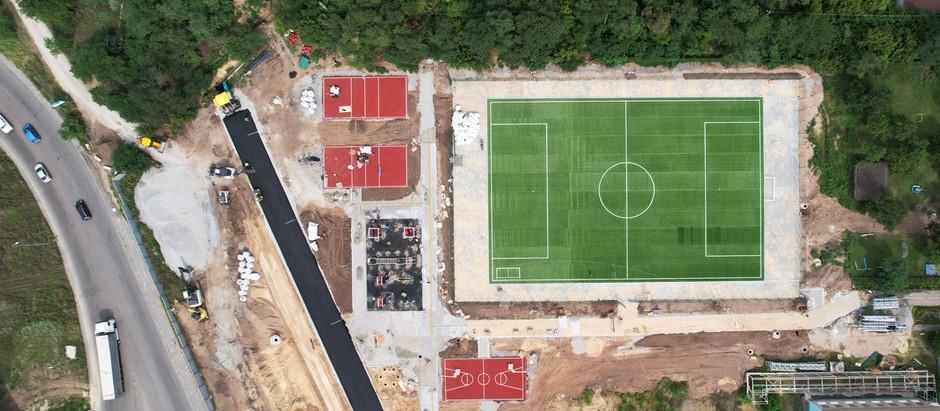 В рамках проекту будівництва Автомагістралі на Хортиці будуємо сучасний спортмайданчик