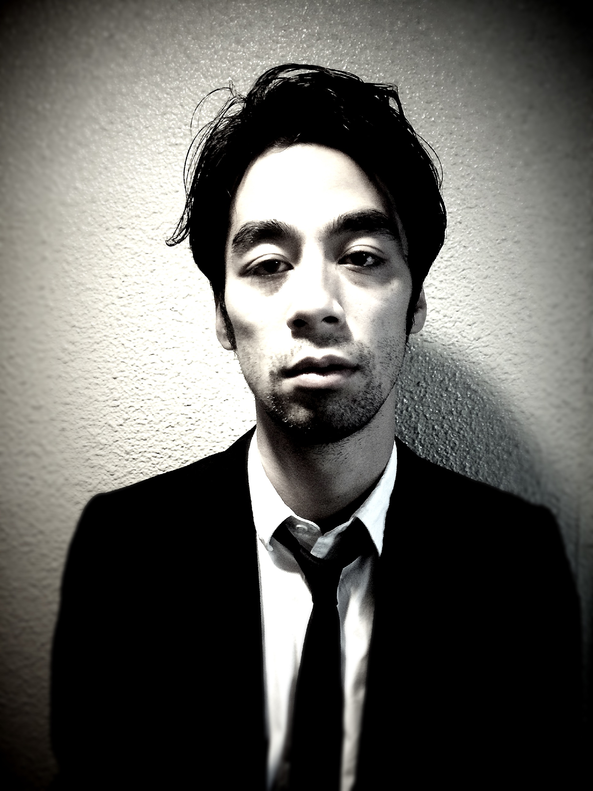 A tired man in suit