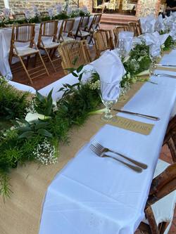 Plan a courtyard wedding.