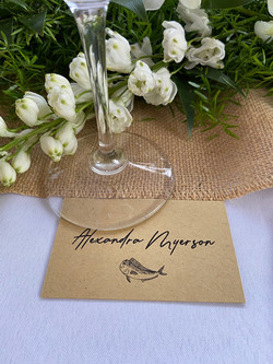 Name cards for your guests.