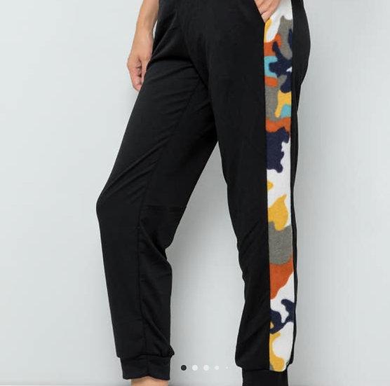 Black/Rust Athletic Pants