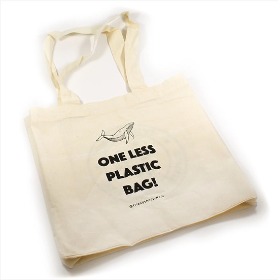 One Less Plastic Bag - Organic Cotton Tote