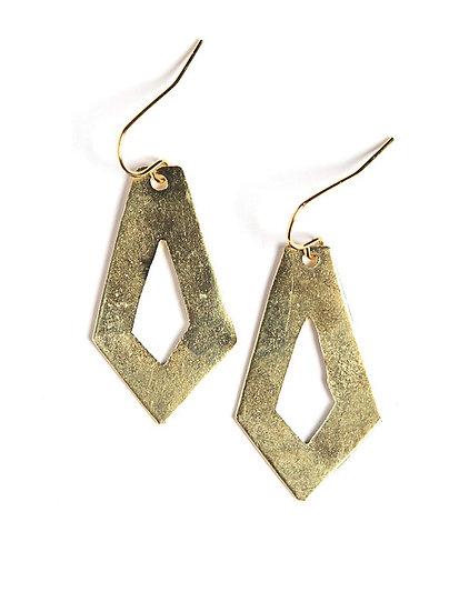 Cut Out Artillery Earrings - Copper