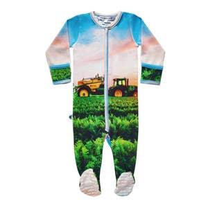 Long Sleeve Footie - Farming