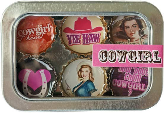 Cowgirl Magnets - Set of 6
