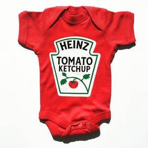 Short Sleeve HEINZ Ketchup Baby Bodysuit