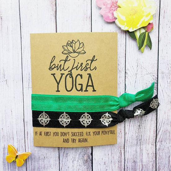 But First Yoga Hair Tie Set