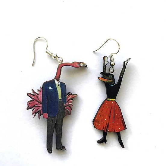 Alligator/Flamingo Earrings