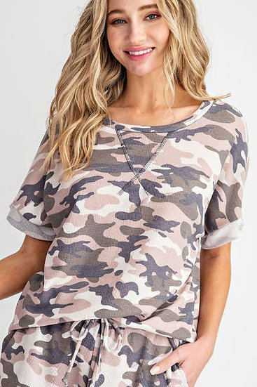 Camouflage Oversize Top