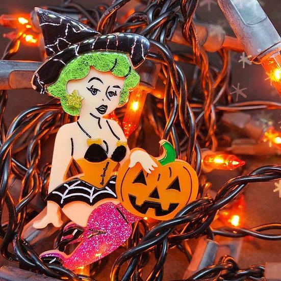Bewitching Belle Halloween Brooch