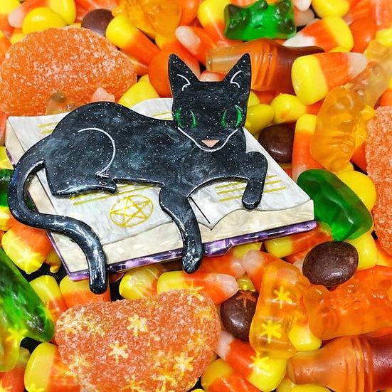 Furmiliar Pyewacket Halloween Cat Brooch