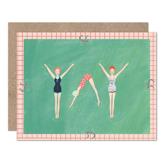 Yay - Synchronized Swimmers Celebrate Card