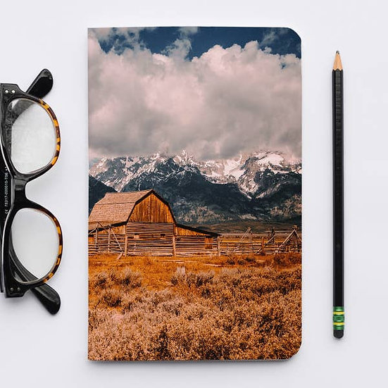 US National Parks - Grand Tetons Barn Landscape - Journal
