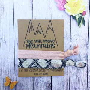 She Moves Mountains Hair Tie Set
