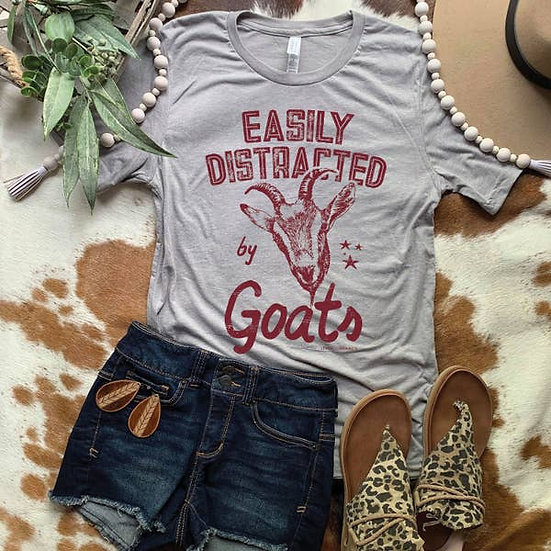 Easily Distracted by Goats T-Shirt