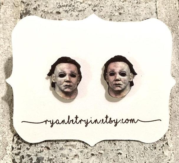 Michael Myers Halloween Movie Stud Earrings