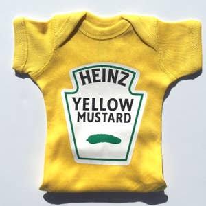 Short Sleeve HEINZ Yellow Mustard Baby Bodysuit