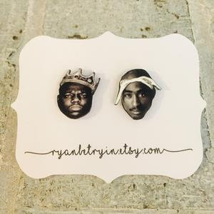 Biggie/Tupac Stud Earrings