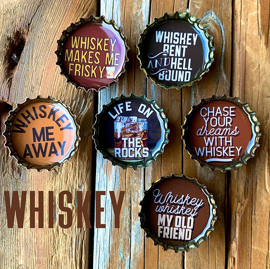 Whiskey Magnets - Set of 6
