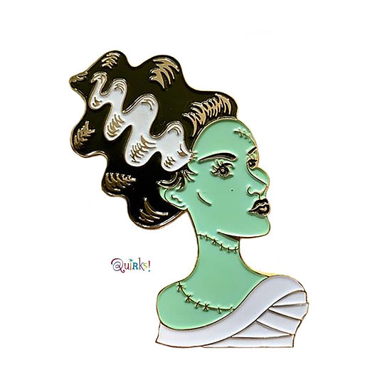 Bride of Frankenstein Silver Scream Enamel Pin