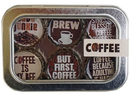 Coffee Magnets - Set of 6