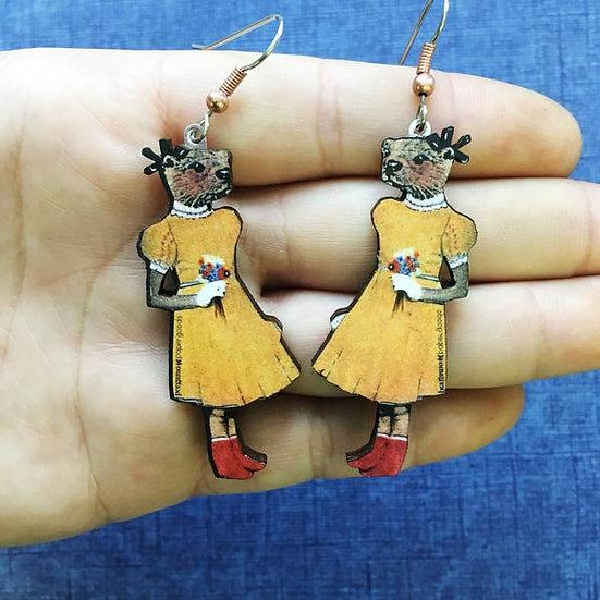 Otter Girl Earrings
