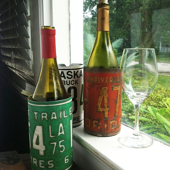 License Plate Wine Coozie