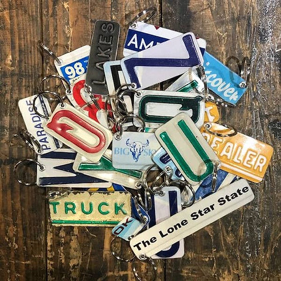 License Plate Key Fob