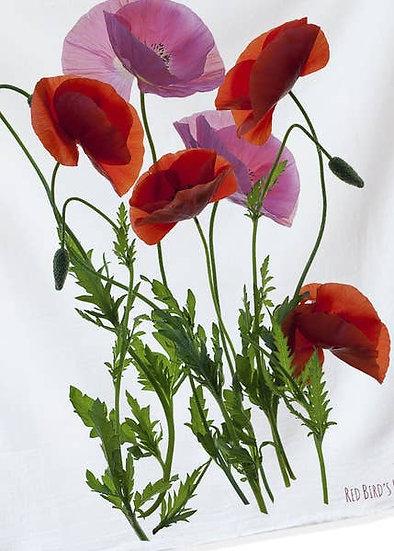 Poppy Flowers Kitchen Towel