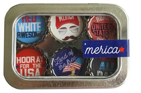 'Merica Magnets - Set of 6