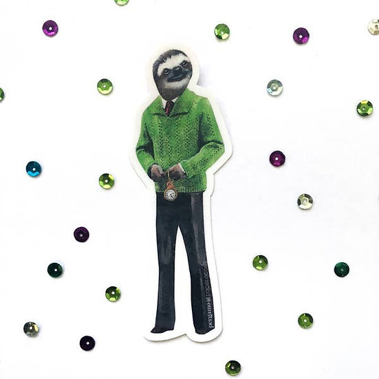 Sloth Man Vinyl Sticker