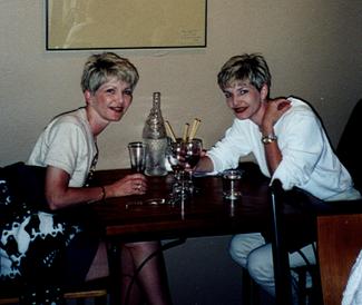My mom and me in Hokitika, New Zealand