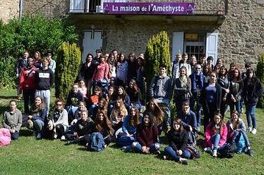 groupe à La maison de l'Améthyste au château de Montfort_La Montagne