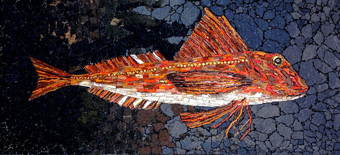 Red Gurnard  smalti and glass 110x50.jpg