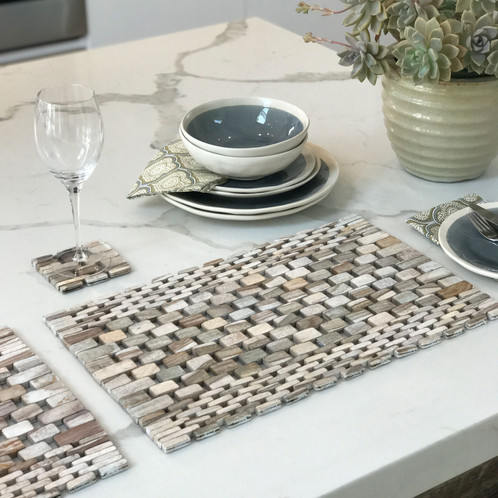 This Placemat Is Hand Crafted Out Of Small Pieces Of Sustainably Sourced  Rosewood Too Small To Use For Anything Else And That Would Otherwise Be  Destroyed.