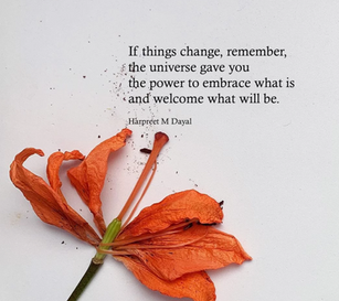 Poem, 'If things change'