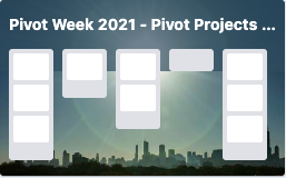 Pivot Week 2021 - Pivot Projects Jamboree - online event series