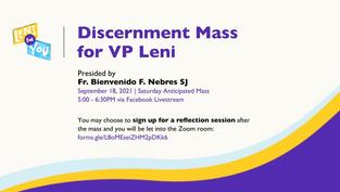 Supporter group holds Discernment Mass for VP Leni