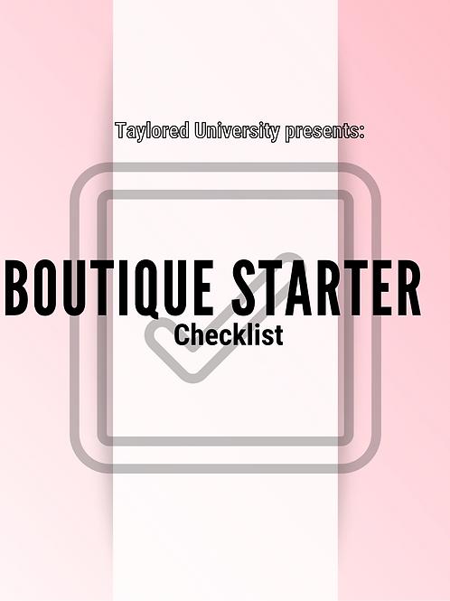 Boutique StartedChecklist