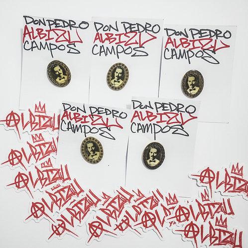 Portrait Pin & Anarchy Albizu Stickers