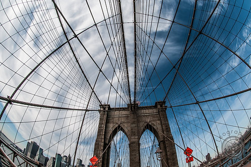 Brooklyn Bridge Fisheye Print